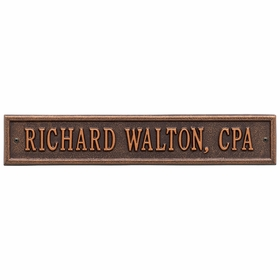 Arch Extension Standard One Line Wall Plaque