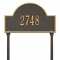 Arch Marker Standard One Line Lawn Address Sign