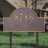 Whitehall Standard Size Arch Marker Wall or Lawn Plaque - (1 or 2 lines)