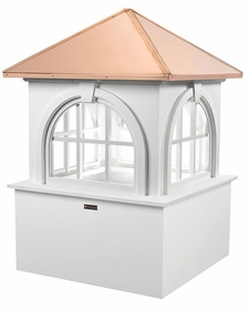 "Arlington Vinyl Cupola - 36"" Sq. X 51"" High"