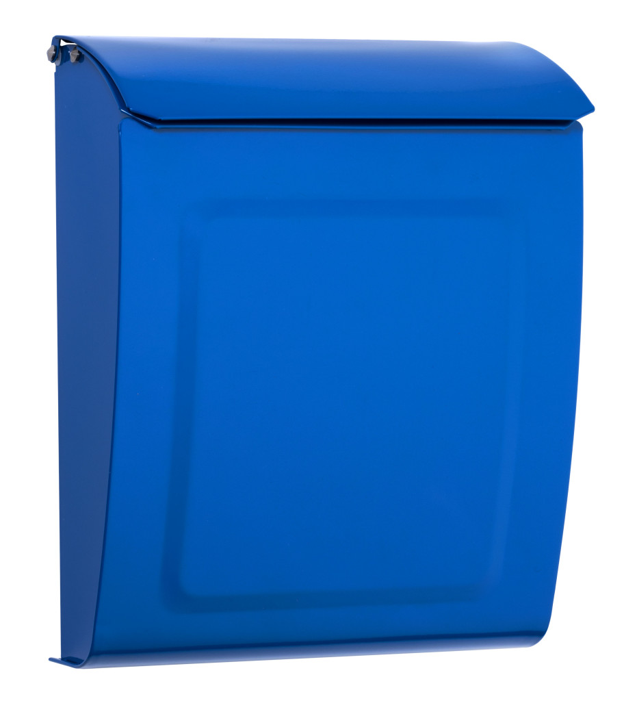 residential mailboxes wall mount. Aspen Powder-Coated Steel Locking Wall-Mount Mailbox In Blue Residential Mailboxes Wall Mount