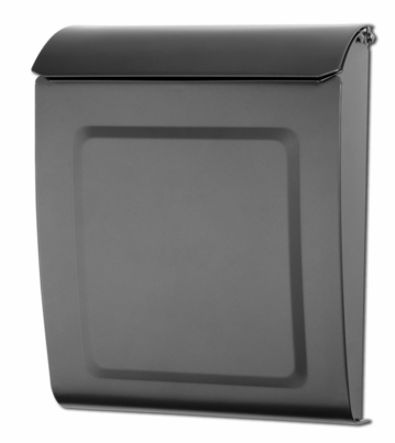 Aspen Powder-Coated Steel Locking Wall-Mount Mailbox in Graphite