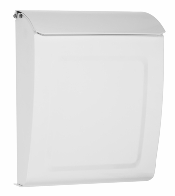 Aspen Powder-Coated Steel Locking Wall-Mount Mailbox in White