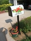 Bacova Gardens Yellow Lab Post Mount Mailbox