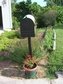 Bacova Gardens 10453 Flying Flag Residential Post Mount Strong Box Mailbox