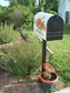 Bacova Gardens 10456 Hydrangea Rose Residential Post Mount Mailbox