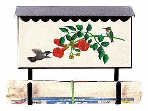 Bacova Gardens 10013 Hummingbird Horizontal Wall Mounted Mailbox