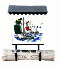 Bacova Gardens 10017 Sailboats Vertical Wall Mounted Mailbox