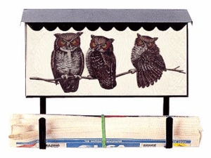 Bacova Gardens 10034 Owls Horizontal Wall Mounted Mailbox