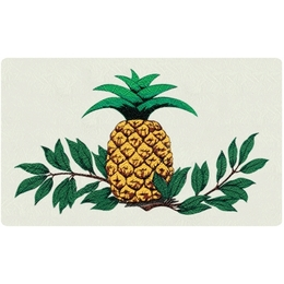 Bacova Gardens 10080 Pineapple Residential Post Mount Strong Box Mailbox