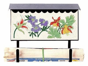 Bacova Gardens 10323 Botanical Horizontal Wall Mounted Mailbox
