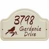 Whitehall Bird Ceramic Arch - Standard Three Line Wall Plaque - Red