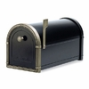 Black Coronado Mailbox with Antique Bronze Accents