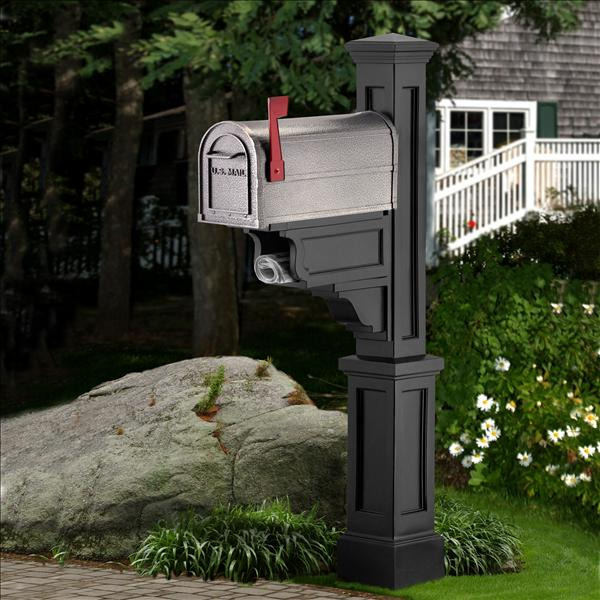 Mayne Post Black Dover Mailbox Package Residential Mailbox