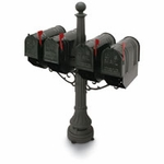 Colonial Steel Quad Mailbox Packages