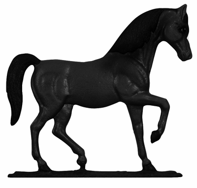 Whitehall Black Horse Mailbox Ornament