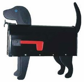 Black Lab Dog Novelty Mailbox