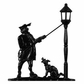 Whitehall Black Lamplighter Mailbox Ornament