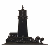 Whitehall Black Lighthouse Mailbox Ornament