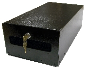 Black lockable insert for Keystone Gaines Mailboxes w/ two keys