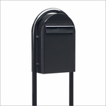 USPS Bobi Classic Black Front Access Mailbox (Post Included)