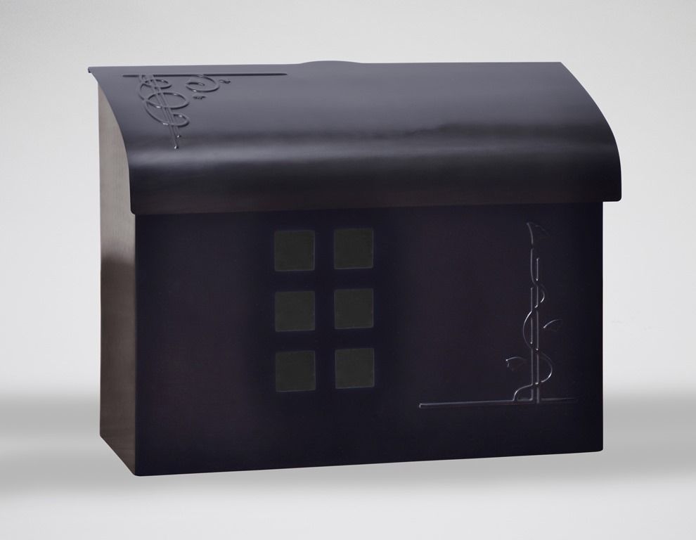 Ecco Mailboxes Black Pewter Wall Mount Mailbox