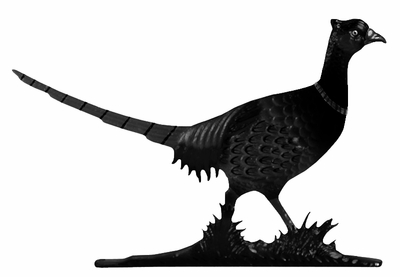 Whitehall Black Pheasant Mailbox Ornament