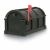 Black Sunset Pointe Rural Plastic Mailbox