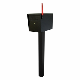 Black Ultimate High Security Locking Single Mailbox & Post Package