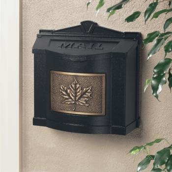 Gaines Mailboxes Black Wall Mount Mailbox With Antique