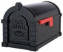 Original Keystone Series Mailbox - Black with Black Eagle