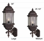 Boulevard Medium Top Mount Wall Bracket Lighting Fixture