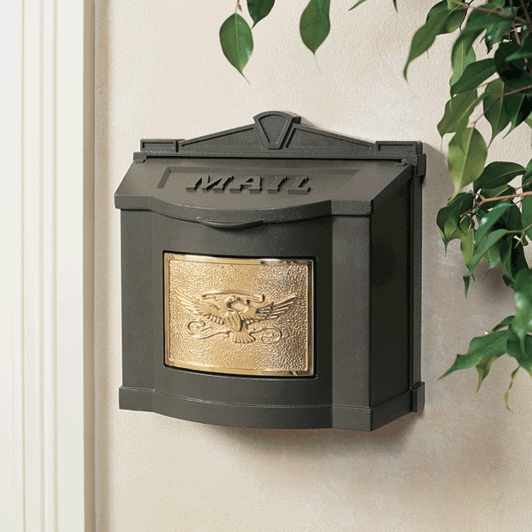 Gaines Mailboxes Bronze Wall Mount Mailbox With Polished