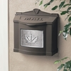 Bronze Wall Mount Mailbox with Satin Nickel Leaf Emblem