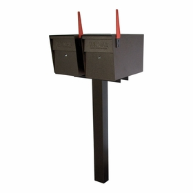 Ultimate High Security Locking Double Mailbox Package - Bronzed Copper