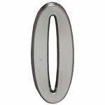 "Whitehall Brushed Nickel 5"" House Address Numbers Number ""0"""