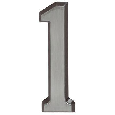 "Whitehall Brushed Nickel 5"" House Address Numbers Number ""1"""
