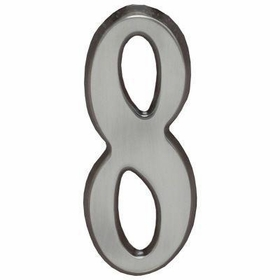 "Whitehall Brushed Nickel 4.75"" House Address Numbers Number ""8"""