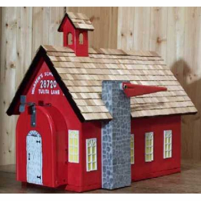 BUILDINGS - School House Mailbox