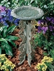 Whitehall Butterfly Birdbath and Pedestal - Copper Verdi