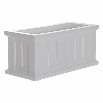 Cape Cod 24 x 11 Patio Planter - White