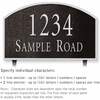 Salsbury 1322BSL Cast Aluminum Address Plaque