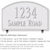 Salsbury 1322WSL Cast Aluminum Address Plaque