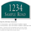 Salsbury 1321GSL Cast Aluminum Address Plaque