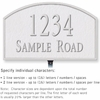 Salsbury 1321WSL Cast Aluminum Address Plaque