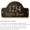 Salsbury 1341BGS Cast Aluminum Address Plaque