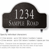 Salsbury 1341BSL Cast Aluminum Address Plaque