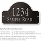 Salsbury 1341BSS Cast Aluminum Address Plaque