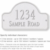 Salsbury 1341WSS Cast Aluminum Address Plaque