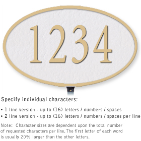 Salsbury 1331WGL Cast Aluminum Address Plaque